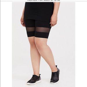 Torrid black bike shorts with mesh inset